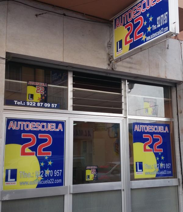 Instalaciones de Autoescuela 22 en San Sebastián de La Gomera