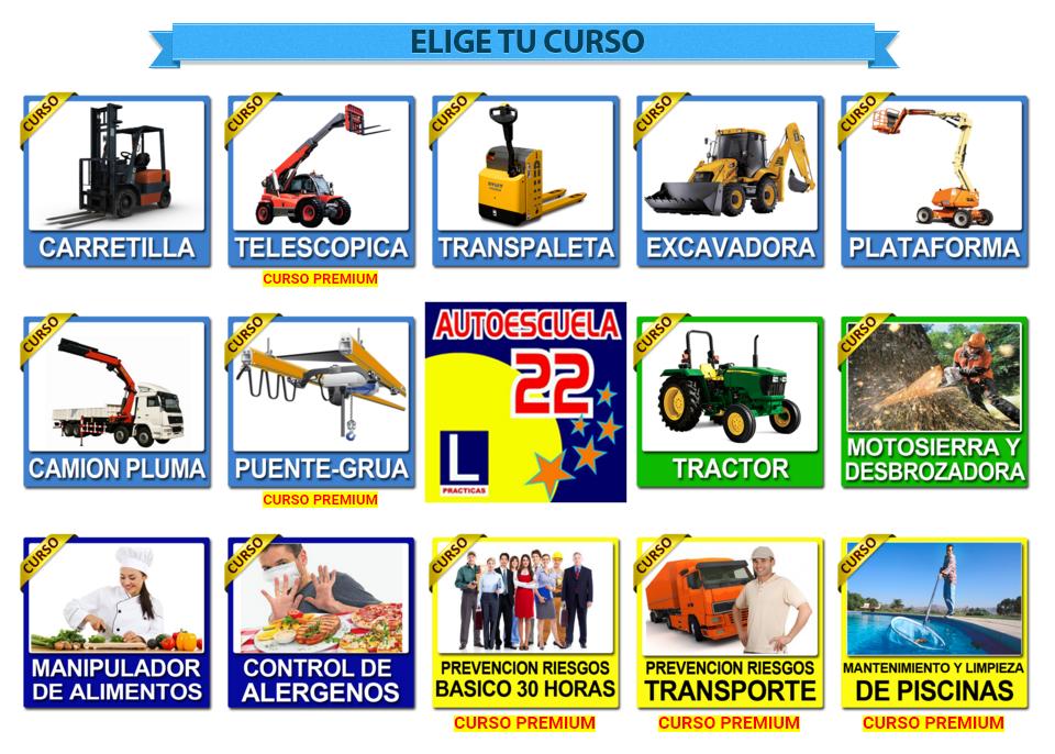 Nuevos cursos disponibles con Autoescuela 22